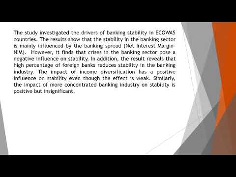 What Drives Banking Stability Empirical Evidence from ECOWAS Countries IJBEM 46 155 165