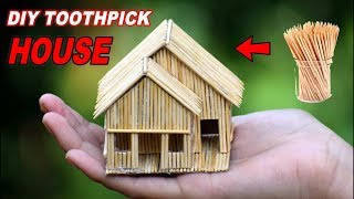 Making of Mini Toothpick house || DIY Craft Idea [ MissDIY Star ]