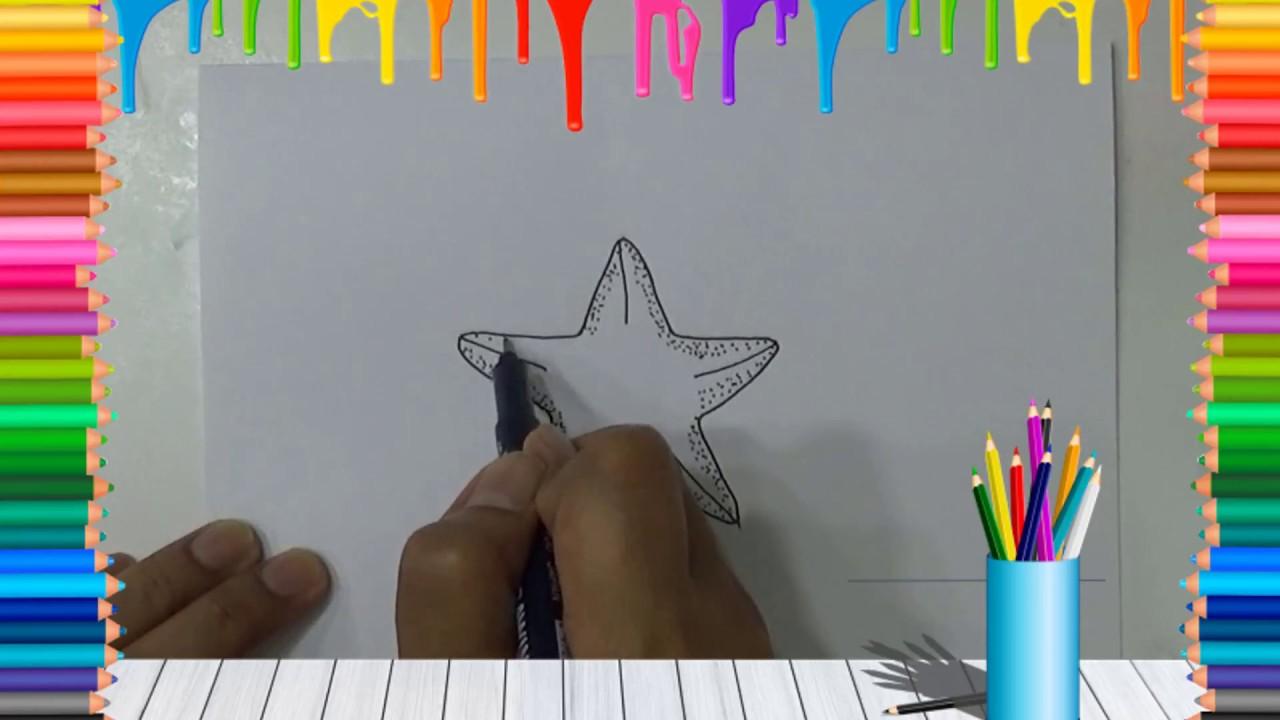 Cara Menggambar Bintang Laut Youtube
