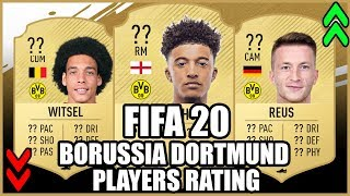 FIFA 20 | BORUSSIA DORTMUND PLAYERS RATINGS PREDICTIONS | FT.Witsel,Sancho,Reus....