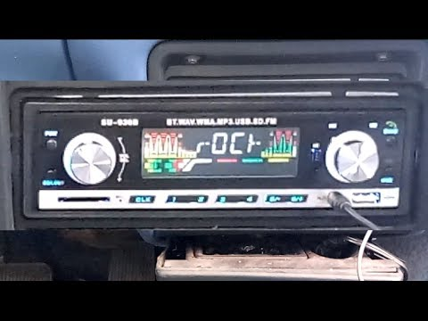 Bluetooth Car Stereo FM Radio Masione Single Din Car Audio Receiver In Dash USB SD AUX MP3 Player Wi