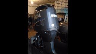 Лодочный мотор Yamaha 300 HPDI запуск обзор замер компрессии от АквацентрДВ лодочные моторы бу из Яп