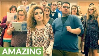 Professor and her students cover Beyonce's 'Halo' a capella!