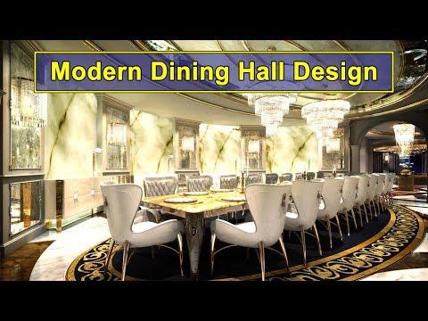 Modern Dining Hall Design Ideas Plasma Wall Decor And Gypsum False Ceiling Aenzay Interiors Youtube