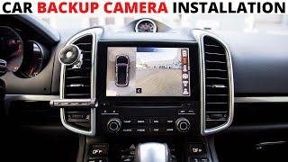 How To Install A Rearview Reverse Backup Camera (Step by Step) Easy
