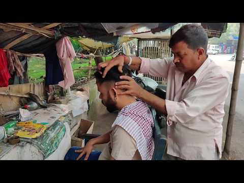 Street Barber Intense yet relaxing head massage and neck cracking | Indian Massage