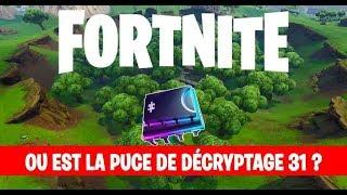 Fortnite : puce de décryptage 31, Chercher à un point de vue sur un cratère de météorite
