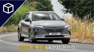 [자동차 판매량] 2021년 9월 국산차 판매량