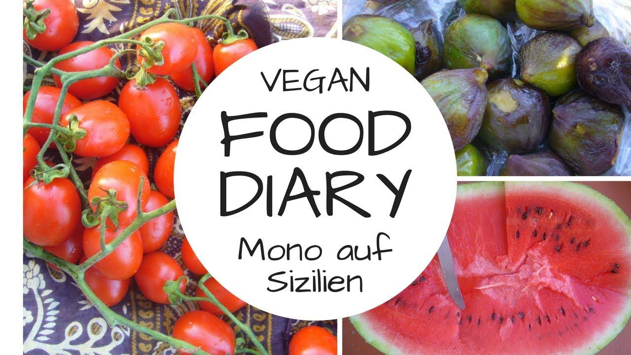 FOOD DIARY - ROHKOST auf Sizilien - Monomahlzeiten