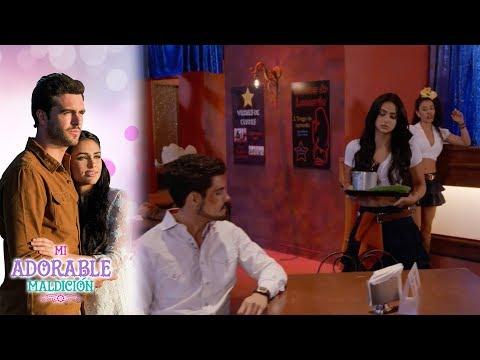 El primer día de trabajo de Aurora, un desastre | Mi adorable maldición - Televisa