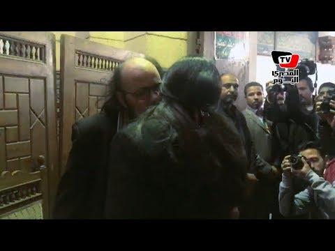 المصري اليوم:فيفي عبده تواسي طلعت زكريا في عزاء شقيقته