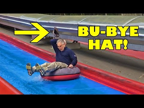 Bob Loses Hat On Weird Water Slide Thing at Bayern Park in Germany! LOL