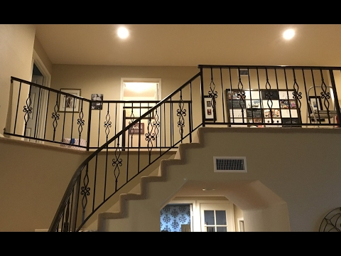 DIY Iron Baluster Spindle Staircase Remodel Quick & Easy