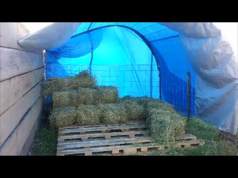 DIY Hoop House Storage