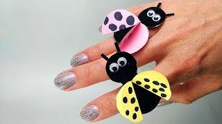 Ladybug paper Ring Tutorial - Easy Ladybug craft ideas