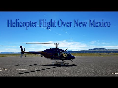 Helicopter Flight Over New Mexico