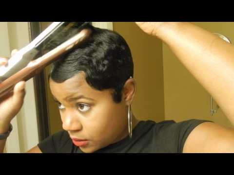 styles for short african hair relaxed hair tutorial how i style my cut 3514 | hqdefault