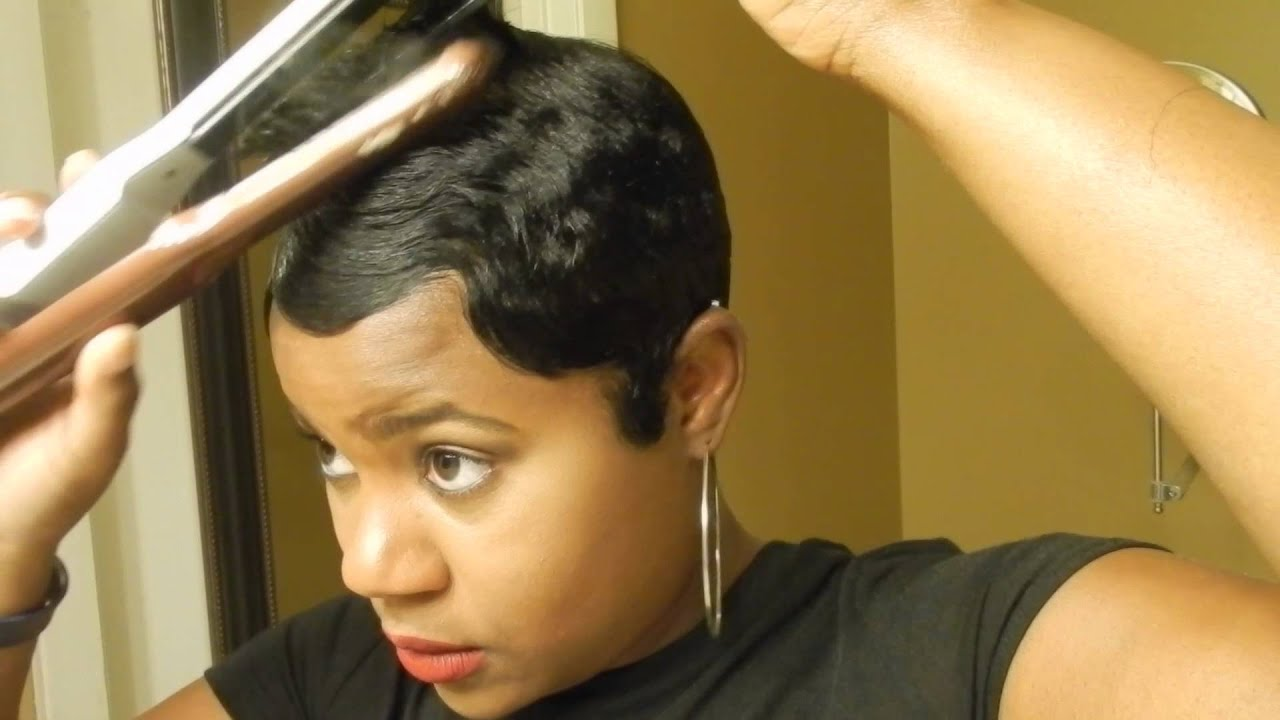 Short Relaxed Hair Tutorial How I Style My Short Cut