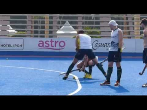 Ciriello Drag Flick. australian hockey player shows us his technique