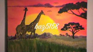 how to paint an African Sunset