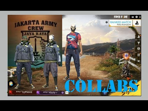 COLLABS BARENG JAKARTA ARMY - FREE FIRE BATTLEGROUND