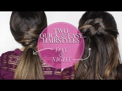 2 EASY DAYTIME & DATE NIGHT HAIRSTYLES | Layered Pony & French Knot
