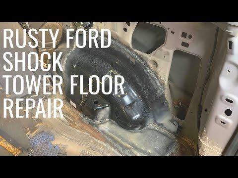 Ford Escape Rusty shock tower floor repair