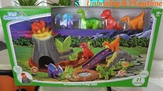 Dinosaur Toys: Kid Connection Dinosaurs Play Set Unboxing & Playtime w/ Maya