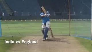 Ms Dhoni practice India vs England