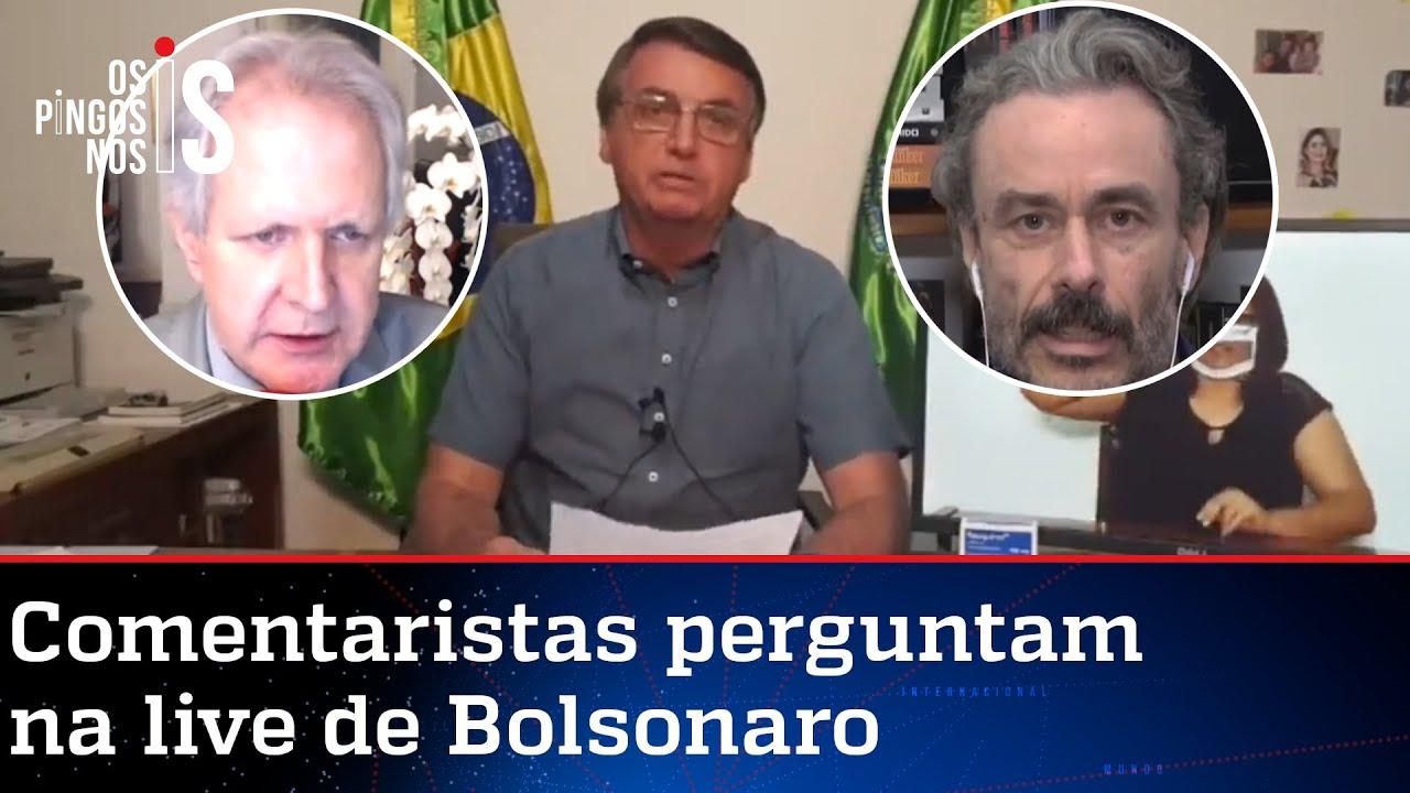 EXCLUSIVO: Entrevista durante a live de Jair Bolsonaro de 23/07/20
