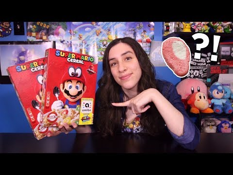 WHAT IS THIS?! Super Mario Cereal Taste Test & Unboxing