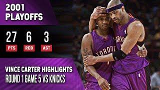 Vince Carter Highlights Playoffs Game 5 Raptors vs Knicks (05.04.2001) 27pts, Must Win Game!