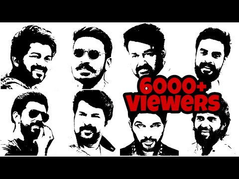 variety drawing !! stencil art | tamil, malayalam film actor | stencil art tutorial | easy drawing
