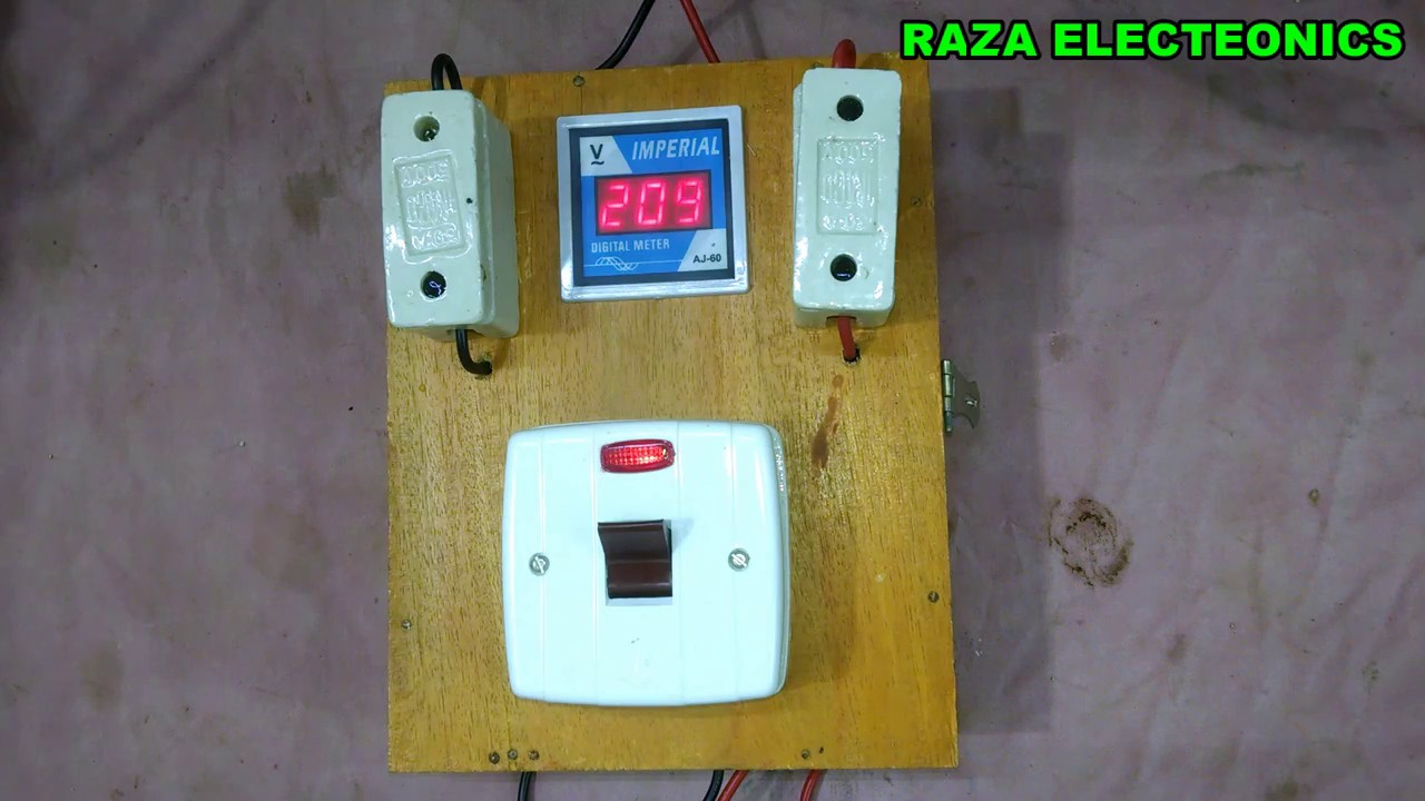 main supply and voltmeter board wiring complete details in urdu rh youtube com MSD Digital 6AL Wiring-Diagram Dakota Digital Gauges Wiring-Diagram