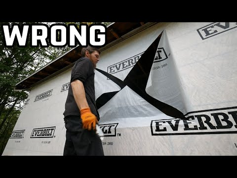 How To (Properly) Cut House Wrap To Install A Window   Home Renovation #47