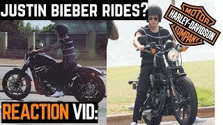 Justin Bieber Rides a Harley Sportster Iron 883!? Reaction Video