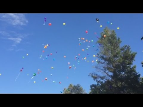 Balloons released for Bryan Higgins