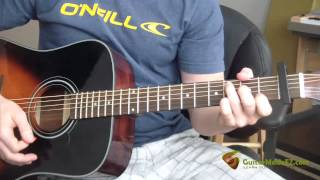 Johnny Cash - Cocaine Blues - Guitar Lesson (EASY VERSION WITH COUNTRY STRUMMING PATTERN)