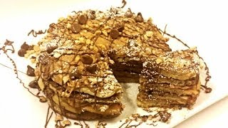 Peanut Butter & Chocolate Pancakes The Ultimate Breakfast- Recipe- Cesy Can Cook