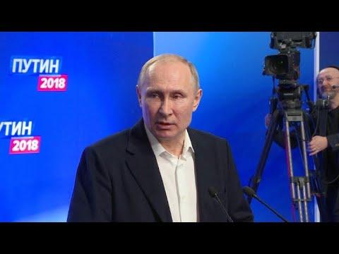 Vladimir Putin gana las elecciones rusas de forma aplastante