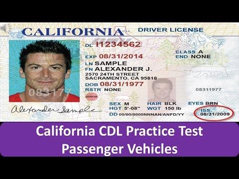 California CDL Practice Test Passenger Vehicles