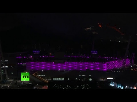 Feux d'artifice de la cérémonie de clôture des JO de Pyeongchang