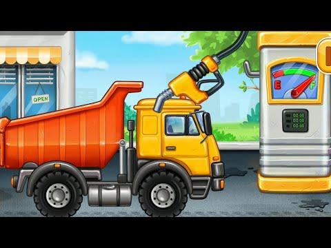 грузовик трактор камаз машинки мультики для детей развивающие
