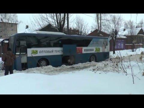 Сгорел автобус в Шуе