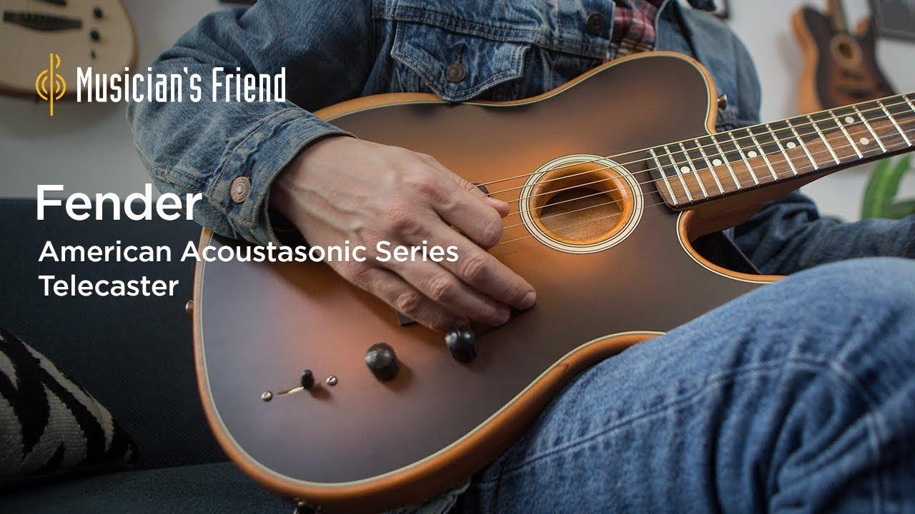 Acoustasonic Telecaster Acoustic-Electric Guitar Dakota Red
