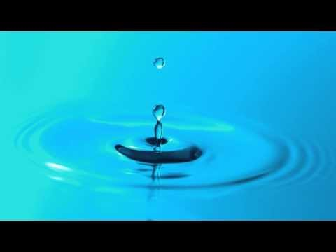 Slow Motion Water Droplet Falling Breaks Surface Tension and Makes Ripples in HD YouTube Video View