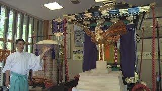 70年ぶりに渡御列復活  大阪・生国魂神社で神具公開