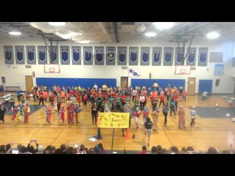Sanbornton Central School flash mob dance 2016