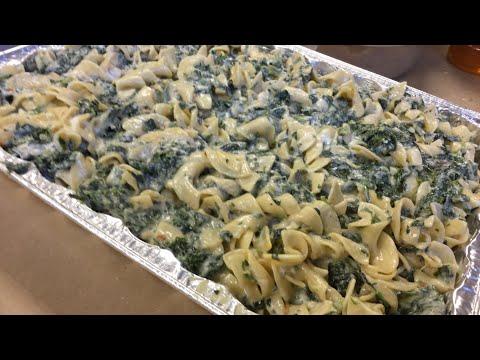 Spinach & Onion Noodle Kugel | Temple Chai
