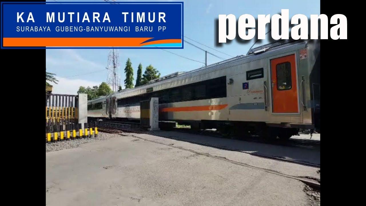 perdana kereta api mutiara timur gerbong baru stainless steel rh youtube com